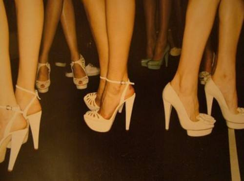 Ladies in high heels